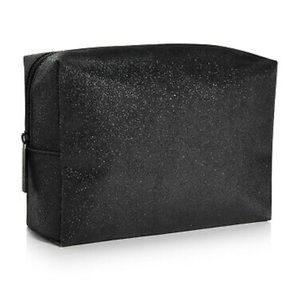 NEW MAC Cosmetics Black Glitter Makeup Bag